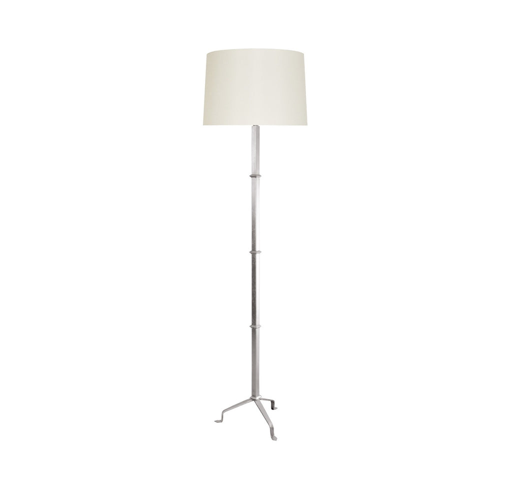 Worlds Away Alvaro Silver Leaf Floor Lamp - Matthew Izzo Home