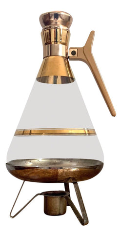 Mid-Century Gold Plated Coffee Server - Matthew Izzo Home