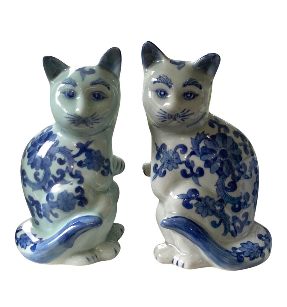 Vintage Chinese Porcelain Cats - Matthew Izzo Home