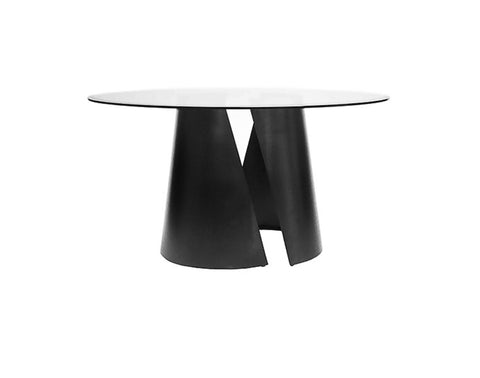 "Worlds Away Portia Black 54"" Dining Table - Matthew Izzo Home"