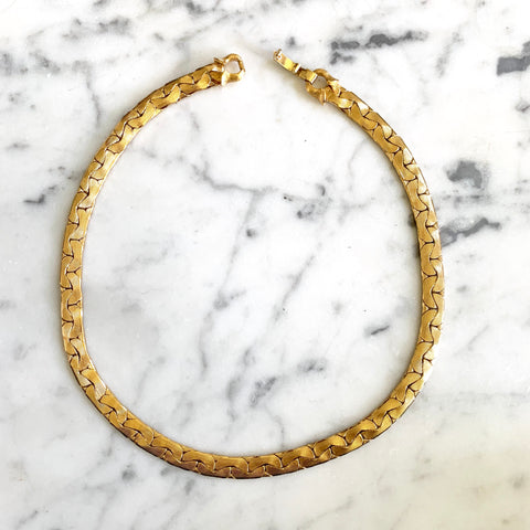 1980s Monet Gold Tone Necklace - Matthew Izzo Home
