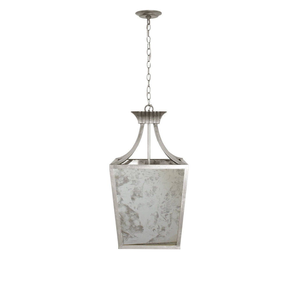 Worlds Away Alister Silver Leaf Lantern Pendant - Matthew Izzo Home