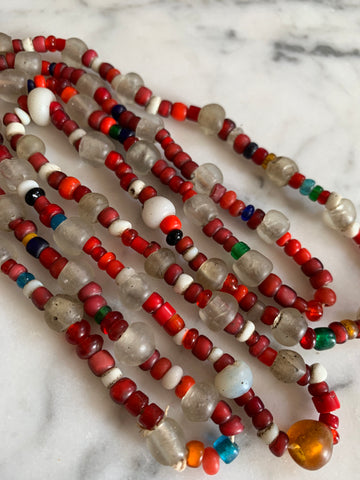 Vintage African Trade Bead Necklace - Matthew Izzo Home