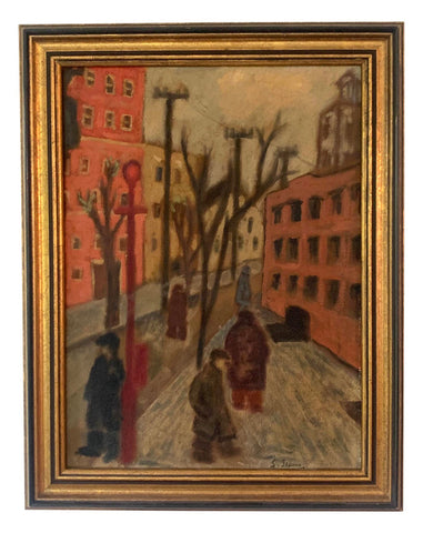 Vintage Oil Painting on Panel Board