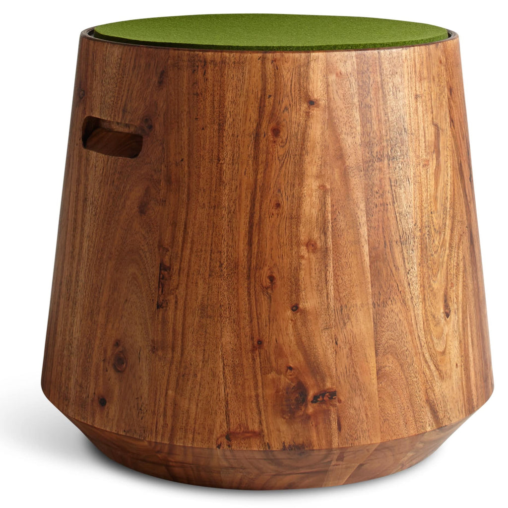 Blu Dot Turn Acacia/Green Olive Stool - Matthew Izzo Home
