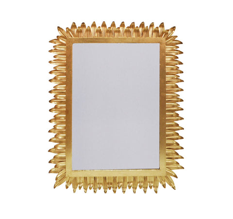 Worlds Away Caesar Gold Leaf Wall Mirror - Matthew Izzo Home