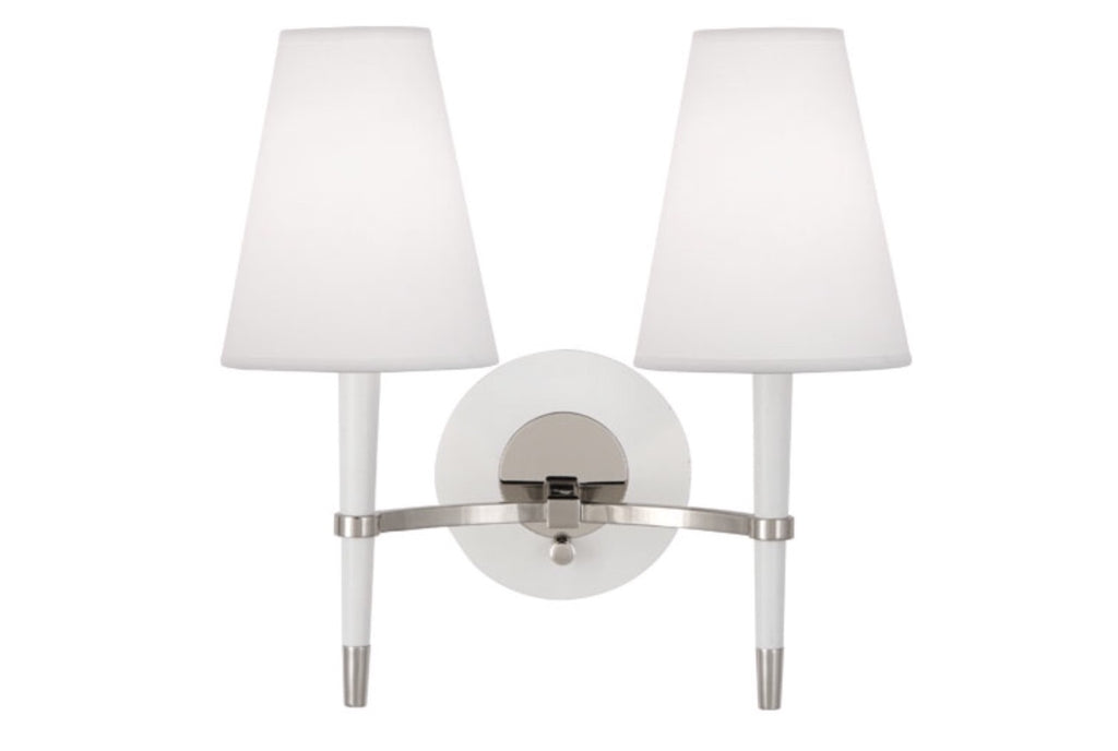 Jonathan Adler Ventana White Double Wall Sconce - Matthew Izzo Home