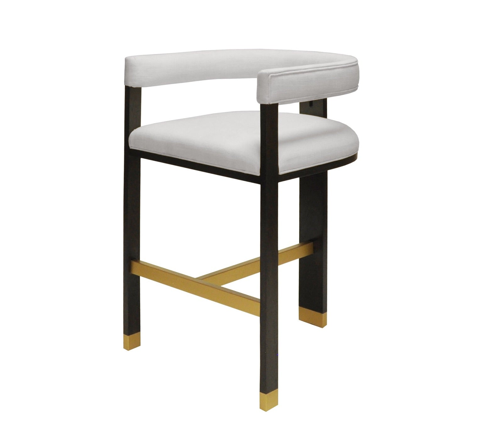Worlds Away Connery Modern White Bar Stools