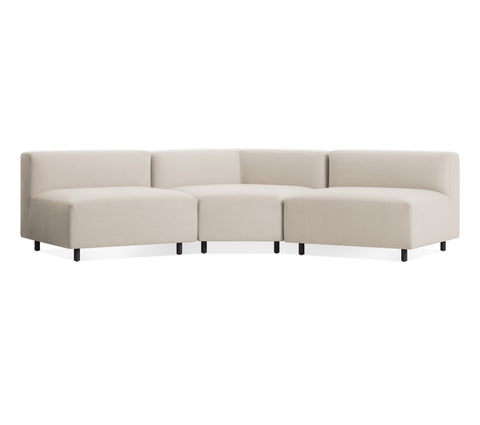 Blu Dot 9 Yard Sunbrella Linen Outdoor Small Angled Sectional Sofa - Matthew Izzo Home