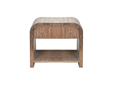 Worlds Away Esther Oak Waterfall Side Table - Matthew Izzo Home