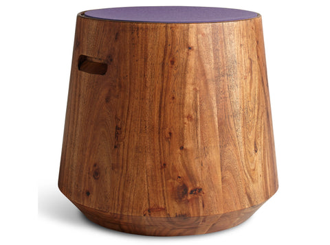 Blu Dot Turn Acacia/Lilac Stool - Matthew Izzo Home