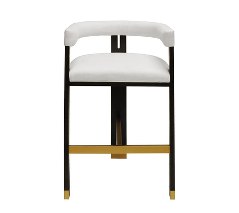 Worlds Away Connery White Modern Bar Stool - Matthew Izzo Home
