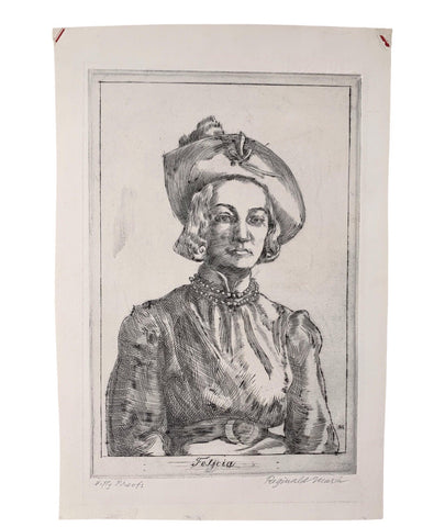 Reginald Marsh 1937 Original 'Fifty Proofs' Etching of 'Felicia' - Matthew Izzo Home