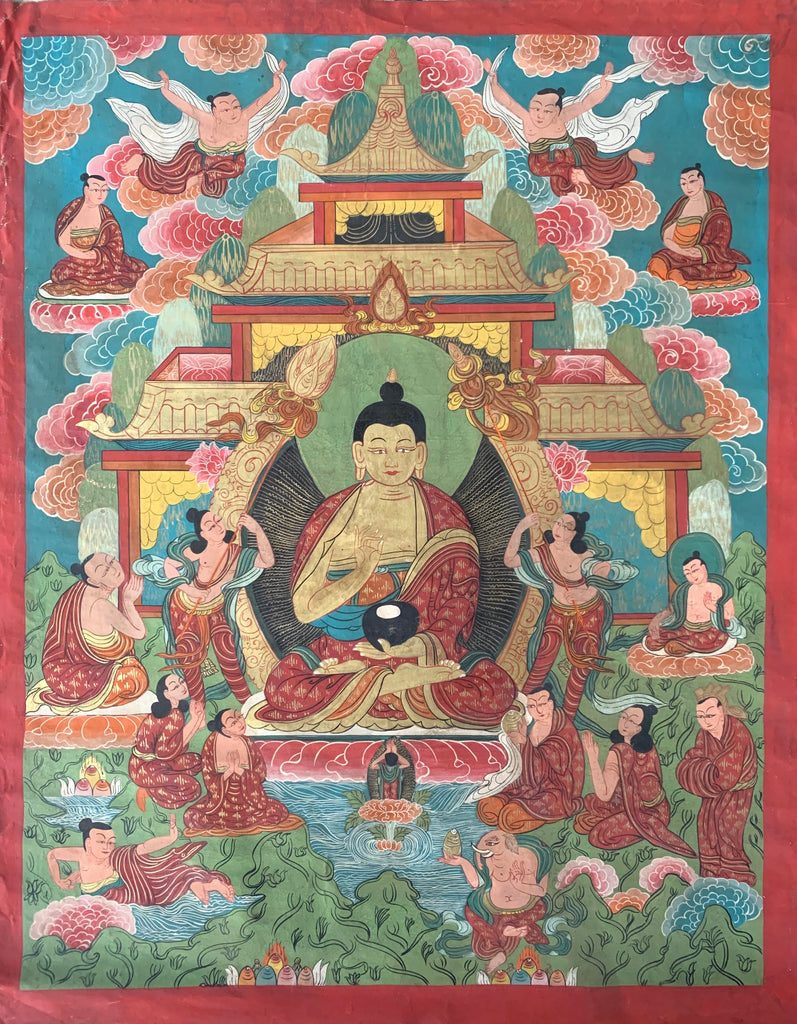 Early 20th Century Tibetan Thangka Painting
