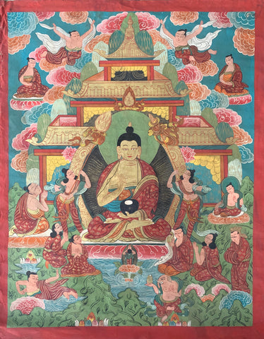 Early 20th Century Tibetan Thangka Painting - Matthew Izzo Home