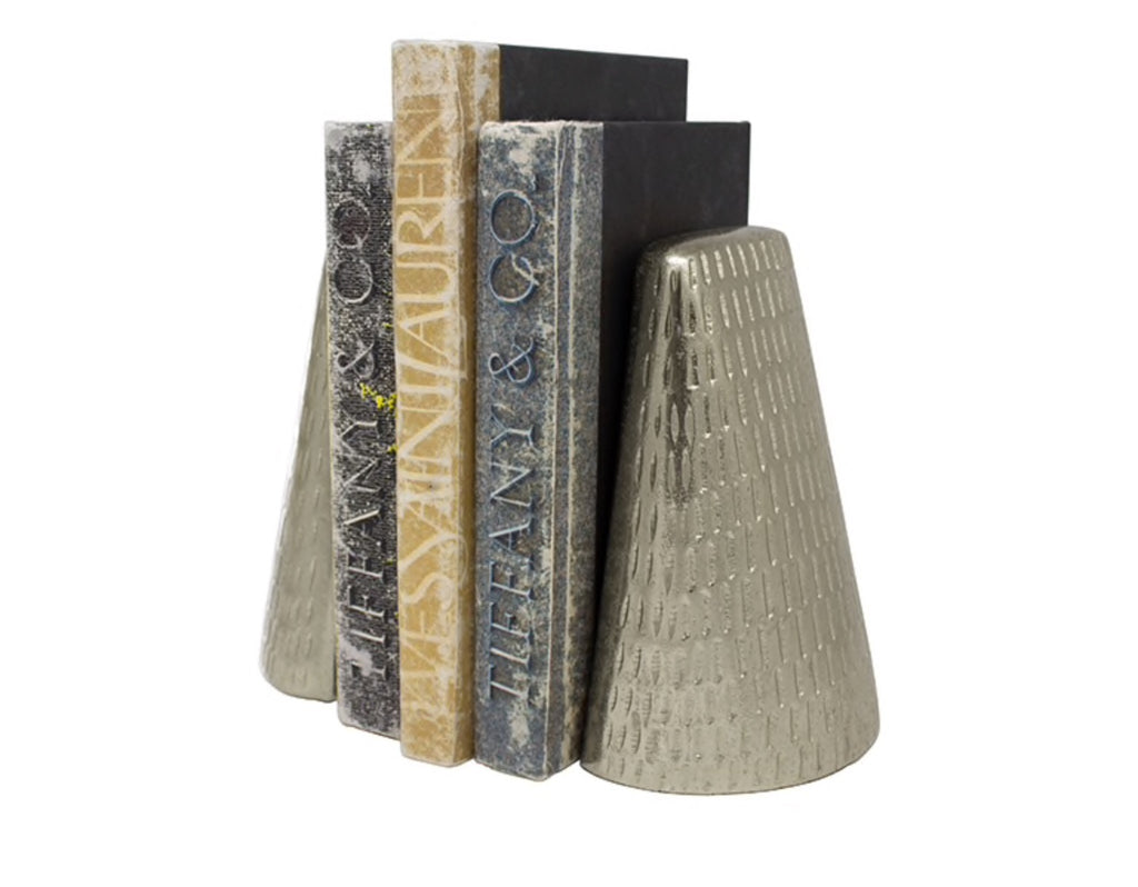 Worlds Away Zoe Antique Nickel Bookends - Matthew Izzo Home