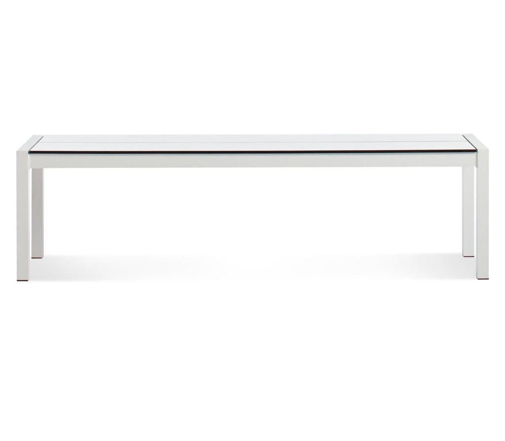 Blu Dot Skiff White Outdoor Bench - Matthew Izzo Home