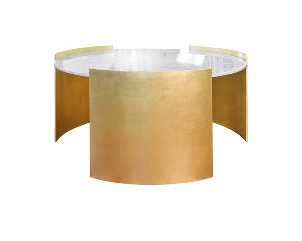 Worlds Away Montana Modern Gold Leaf Coffee Table