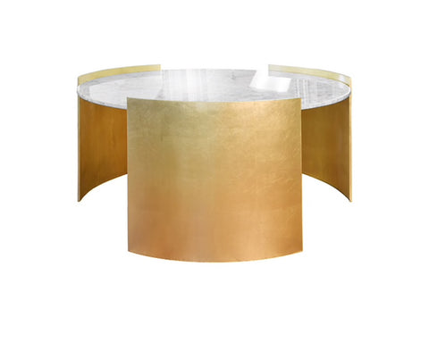Worlds Away Montana Modern Gold Leaf Coffee Table - Matthew Izzo Home