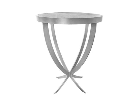 Worlds Away Nadine Silver Leaf Side Table - Matthew Izzo Home