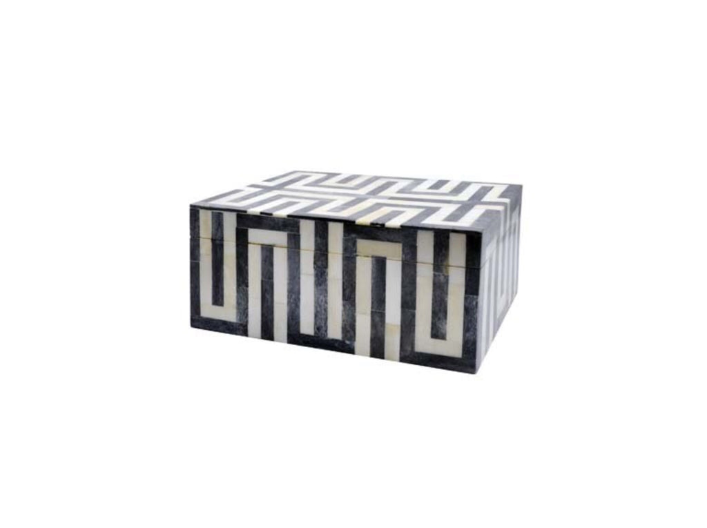 Worlds Away Mellie Patterned Box - Matthew Izzo Home