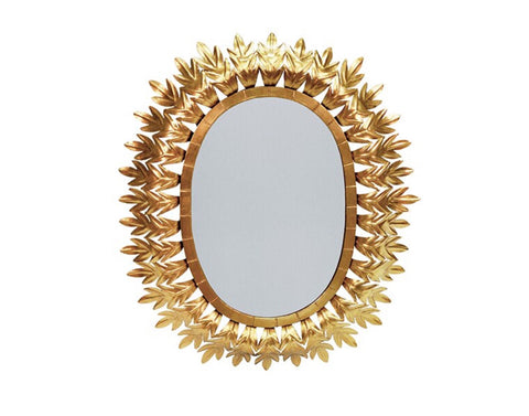 Worlds Away Lona Gold Leaf Starburst Mirror - Matthew Izzo Home