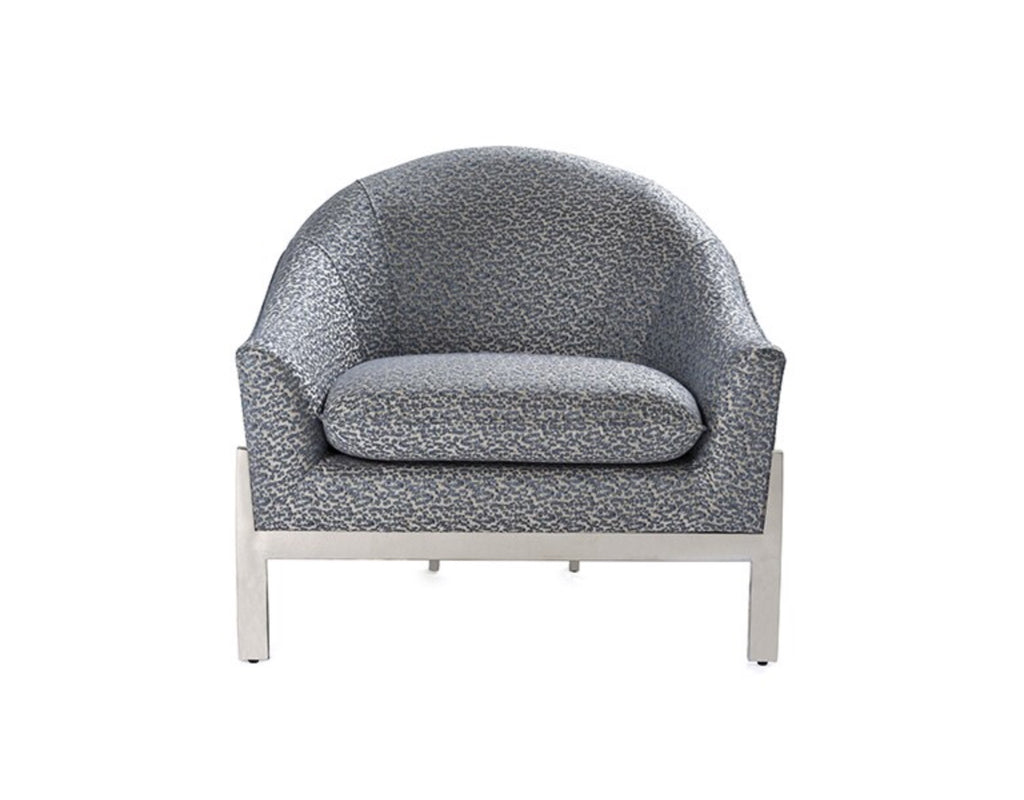 Worlds Away Stark P01 Patterned Lounge Chair - Matthew Izzo Home