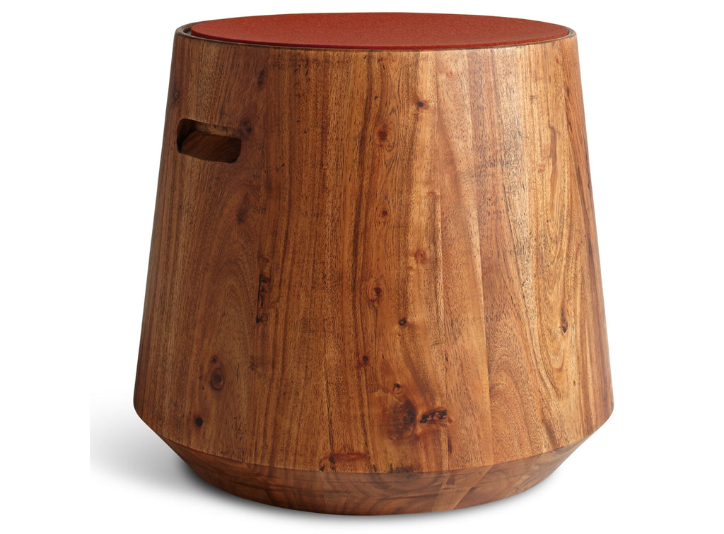 Blu Dot Turn Acacia/Tomato Stool - Matthew Izzo Home