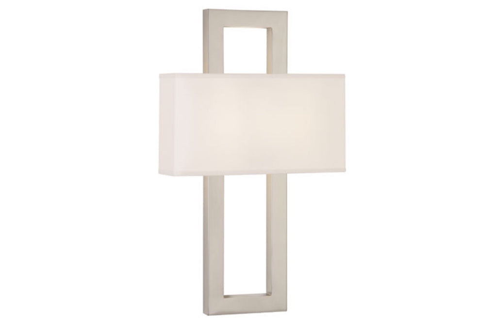 Robert Abbey Doughnut Modern Silver Wall Sconce - Matthew Izzo Home