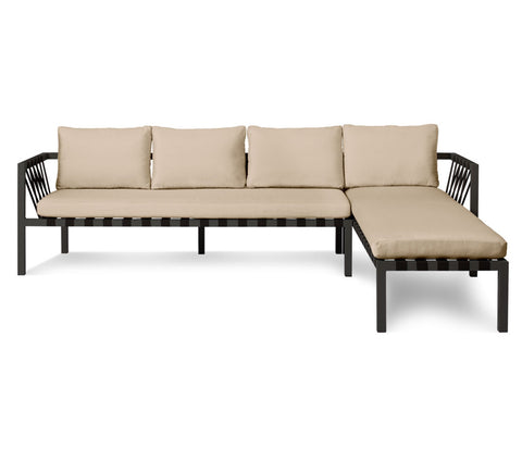 Blu Dot Jibe Sunbrella Taupe Outdoor Sectional Sofa - Matthew Izzo Home