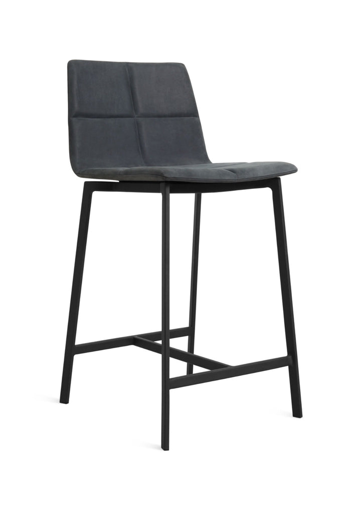 Blu Dot Between Us Ink Leather Modern Counter Stool - Matthew Izzo Home