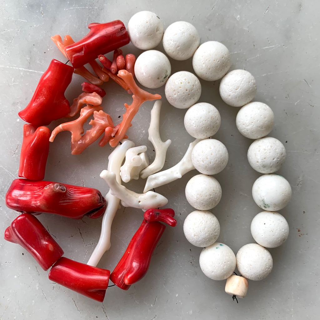 Rare collection of vintage coral beads - Matthew Izzo Home