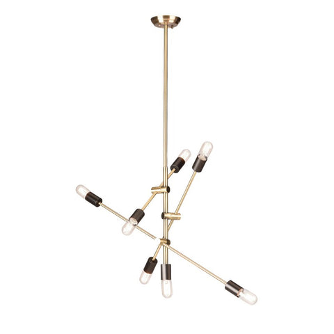 Nuevo Living Byron Brass Multi-Light Pendant - Matthew Izzo Home