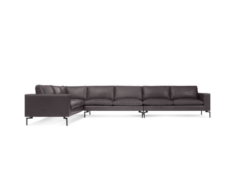 Blu Dot New Standard Left Leather Sectional Sofa - Large - Matthew Izzo Home