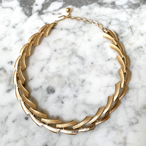 Vintage Trifari Gold Tone Necklace - Matthew Izzo Home