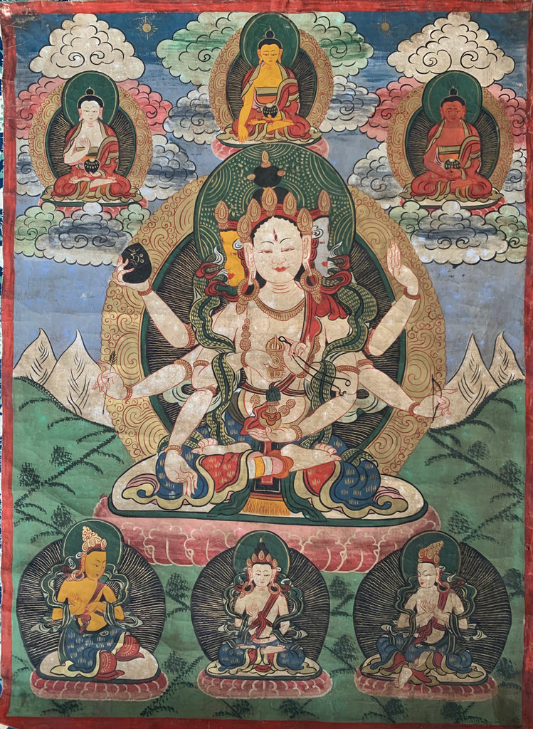 Early 20th Century Tibetan Ceremonial Thangka Painting - Matthew Izzo Home