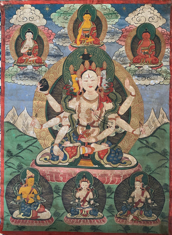 Early 20th Century Tibetan Ceremonial Thangka Painting