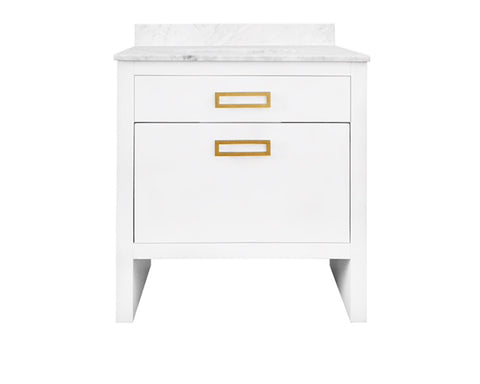 Worlds Away Seth Matte White Bath Vanity - Matthew Izzo Home