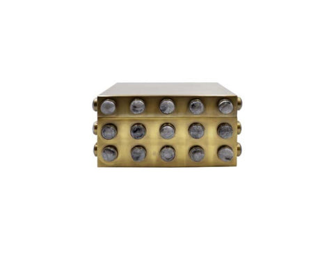 Worlds Away Alba Brass Decorative Box - Matthew Izzo Home
