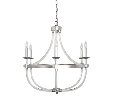 Worlds Away Layla Silver Leaf Chandelier - Matthew Izzo Home
