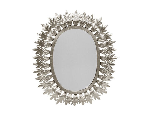 Worlds Away Lona Silver Leaf Starburst Mirror - Matthew Izzo Home
