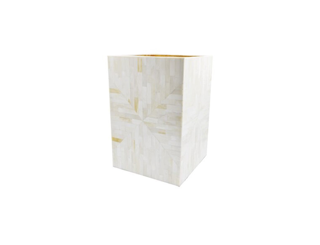 Worlds Away Diana Elegant Wastebasket - Matthew Izzo Home