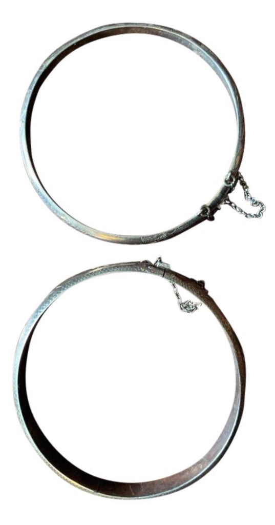 Set of Two Vintage Sterling Silver Bracelets - Matthew Izzo Home