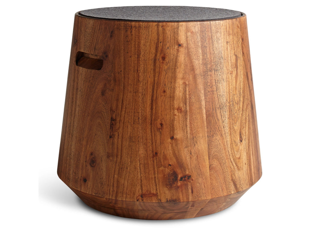 Blu Dot Turn Acacia/Heathered Graphite Stool - Matthew Izzo Home