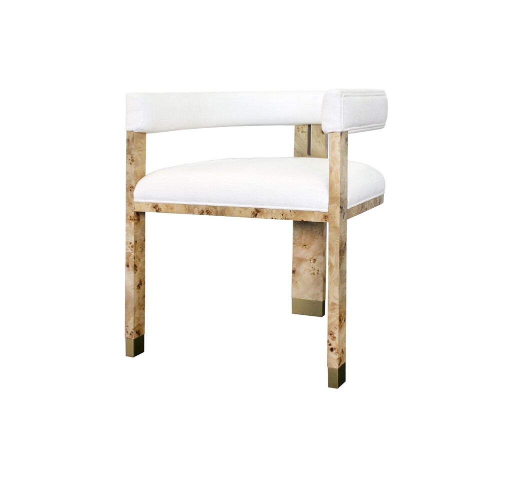 Worlds Away Jude Burl Wood Accent Chair - Matthew Izzo Home