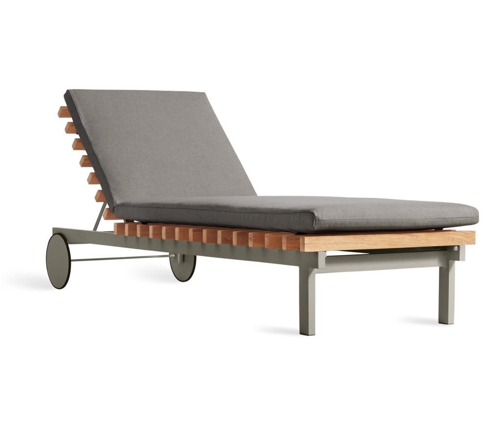 Blu Dot Perch Charcoal Outdoor Sun Lounger - Matthew Izzo Home