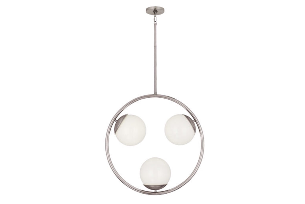 Jonathan Adler Jupiter Polished Nickel Pendant - Matthew Izzo Home