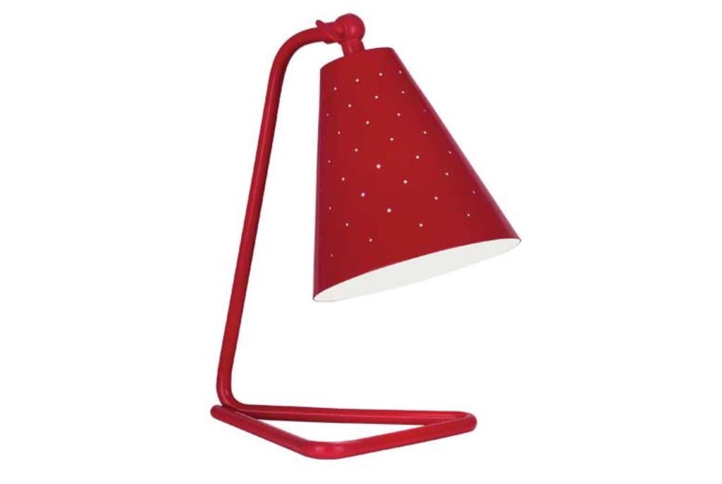 Robert Abbey Pierce Red Task Table Lamp - Matthew Izzo Home