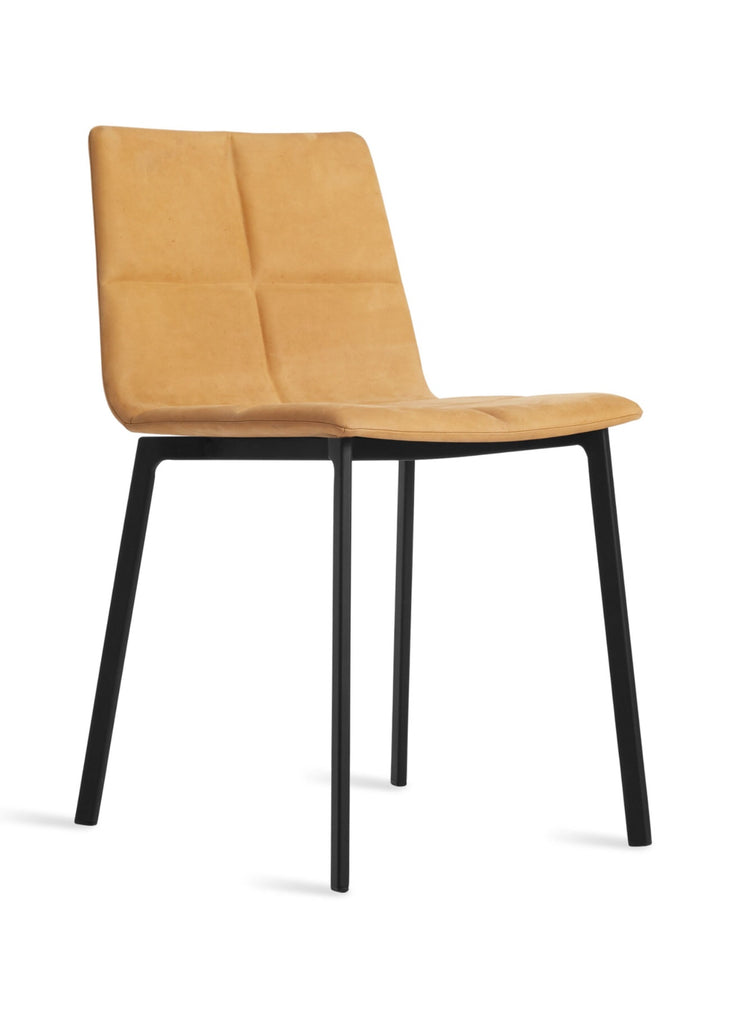 Blu Dot Between Us Camel Leather Modern Dining Chair - Matthew Izzo Home