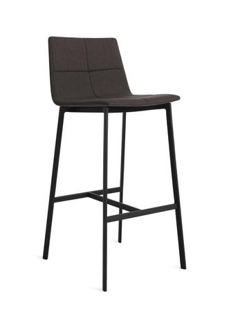 Blu Dot Between Us Gunmetal Modern Bar Stool - Matthew Izzo Home